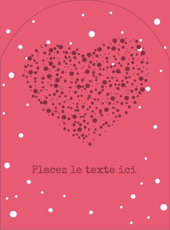 """4¾"""" x 3½"""" Étiquettes rectangulaires - Amas en cœur"""