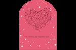 Amas en cœur Étiquettes rectangulaires - gabarit prédéfini. <br/>Utilisez notre logiciel Avery Design & Print Online pour personnaliser facilement la conception.