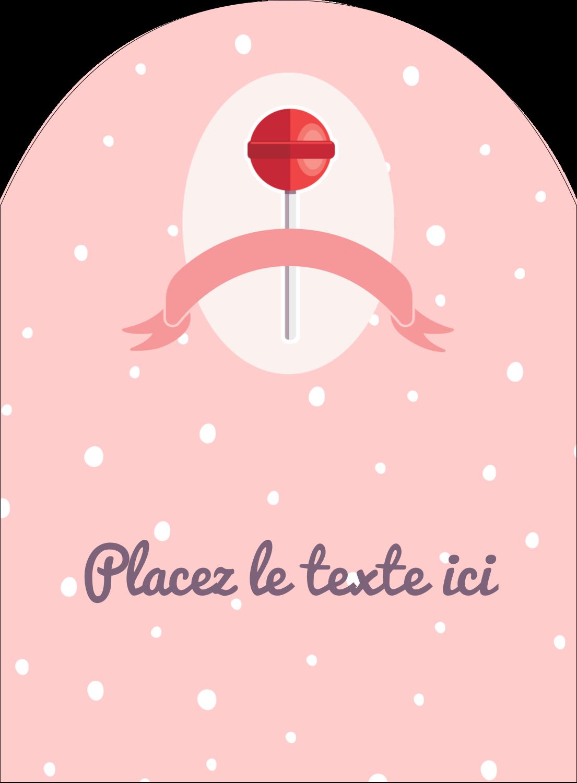 """4¾"""" x 3½"""" Étiquettes rectangulaires - Sucette de Saint-Valentin"""