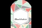Mosaïque tangram rose et verte  Étiquettes rectangulaires - gabarit prédéfini. <br/>Utilisez notre logiciel Avery Design & Print Online pour personnaliser facilement la conception.