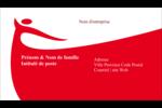 Danseuse rouge Carte d'affaire - gabarit prédéfini. <br/>Utilisez notre logiciel Avery Design & Print Online pour personnaliser facilement la conception.