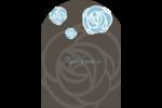 Roses bleues officielles Étiquettes rectangulaires - gabarit prédéfini. <br/>Utilisez notre logiciel Avery Design & Print Online pour personnaliser facilement la conception.