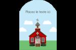 École rouge Étiquettes rectangulaires - gabarit prédéfini. <br/>Utilisez notre logiciel Avery Design & Print Online pour personnaliser facilement la conception.