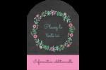 Craie florale Étiquettes rectangulaires - gabarit prédéfini. <br/>Utilisez notre logiciel Avery Design & Print Online pour personnaliser facilement la conception.