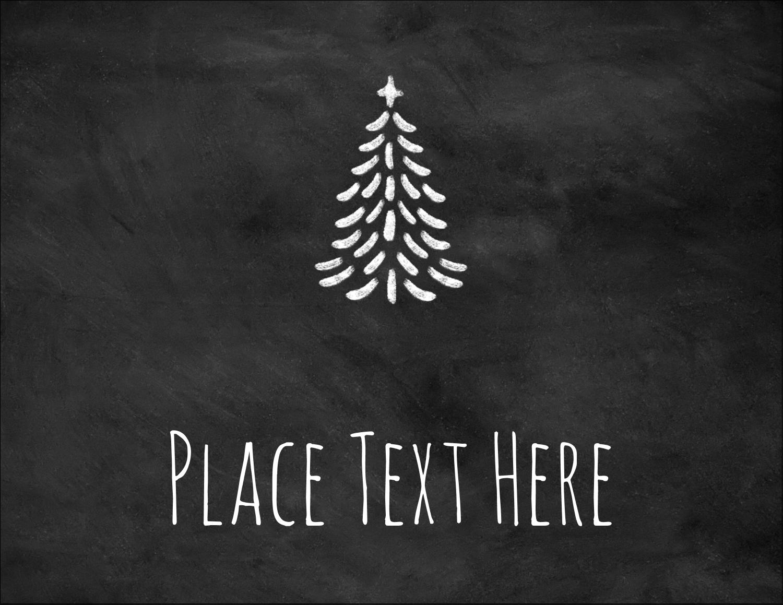 """4¼"""" x 5½"""" Postcard - Chalkboard Tree"""