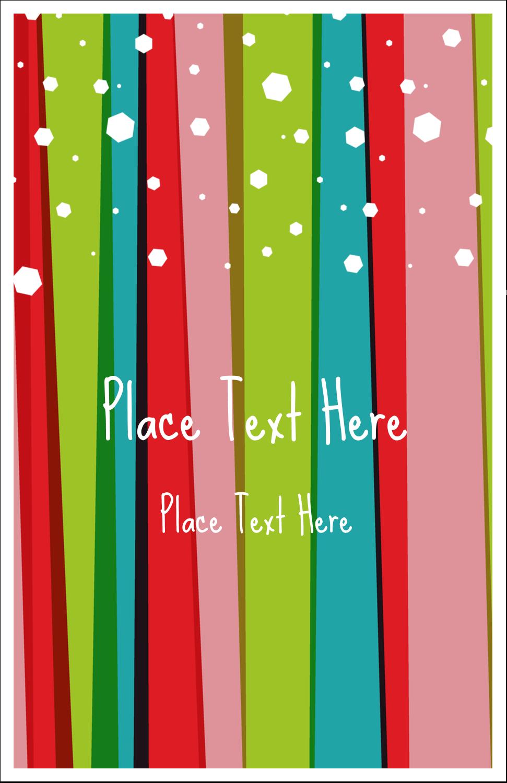"5"" x 8½"" Half Fold Card - Christmas Retro Stripe"