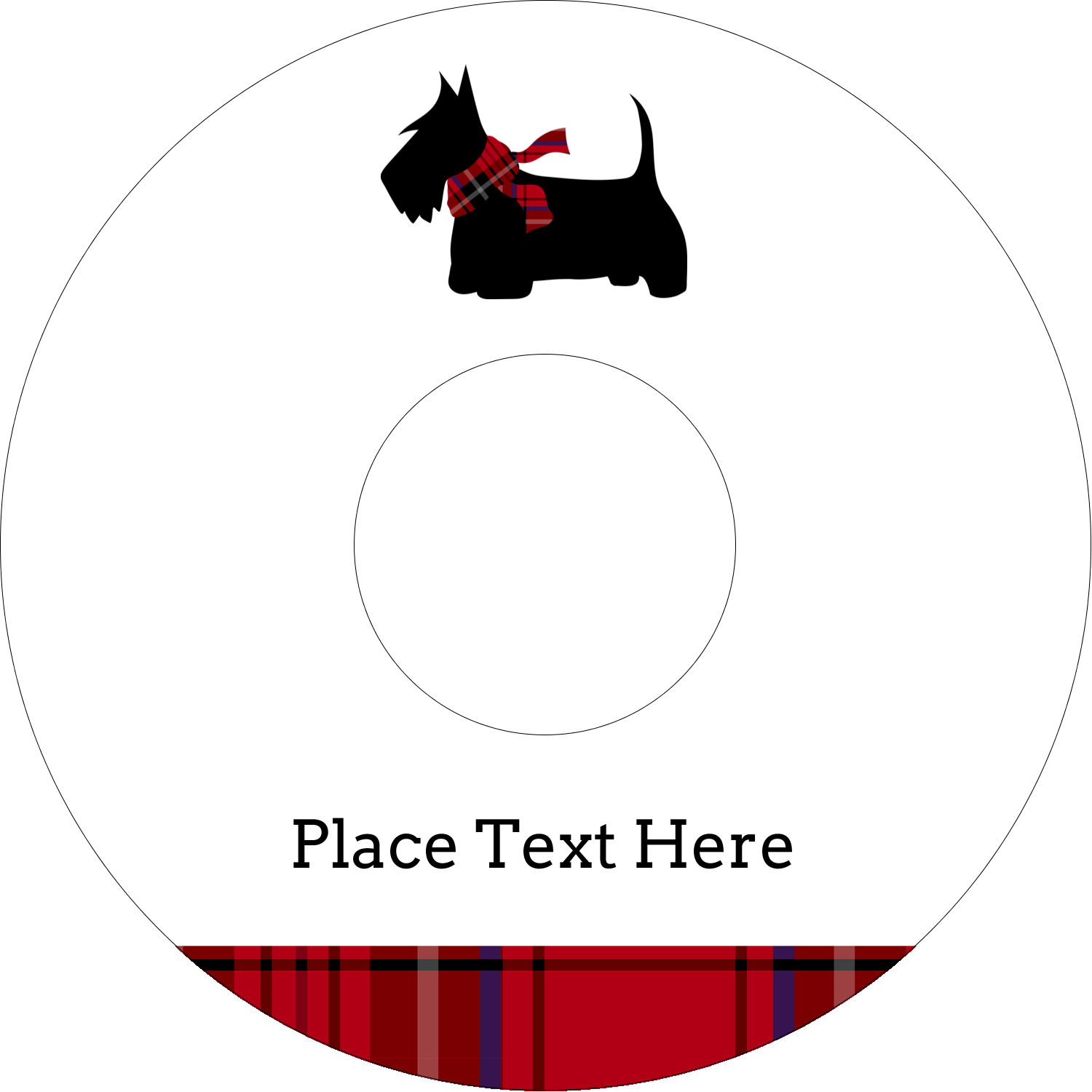 "4.65"" CD-DVD Label - Scottie Dog"