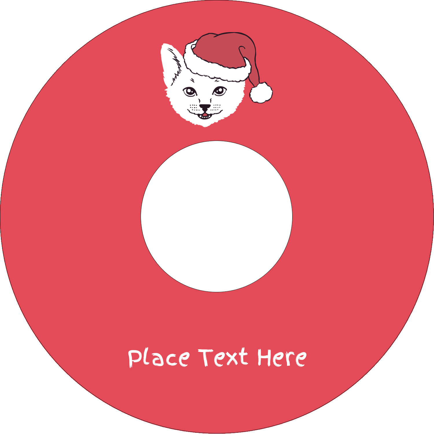 "4.65"" CD-DVD Label - Catmas Meowy"