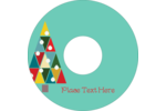 Kaleidoscope Christmas Tree CD-DVD Label Pre-Designed Template. <br/>Customize this printable design template with our Avery Design & Print Online Software.