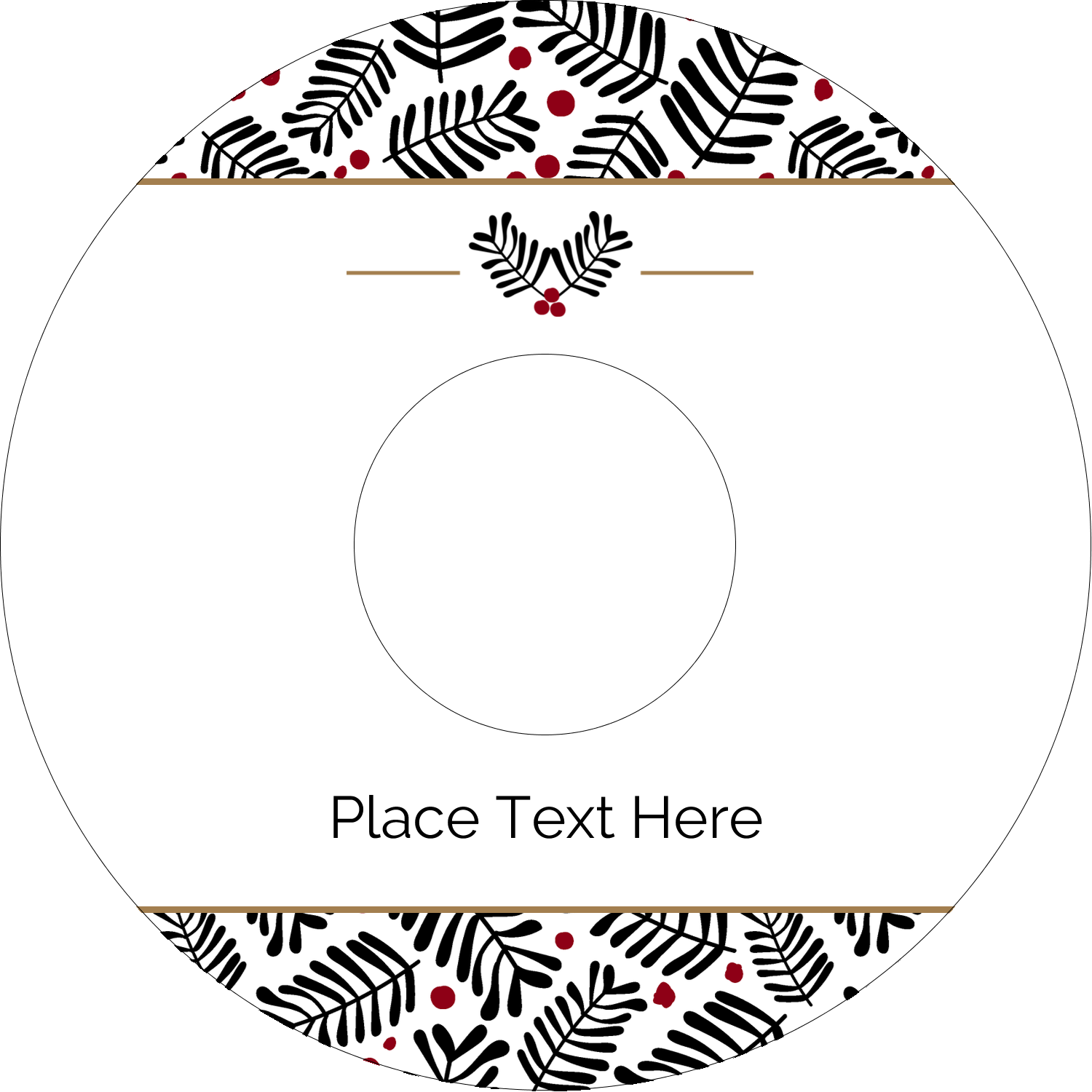 "4.65"" CD-DVD Label - Christmas Floral"