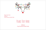 Add humor and whimsy projects with pre-designed Reindeer Antler Lights templates.