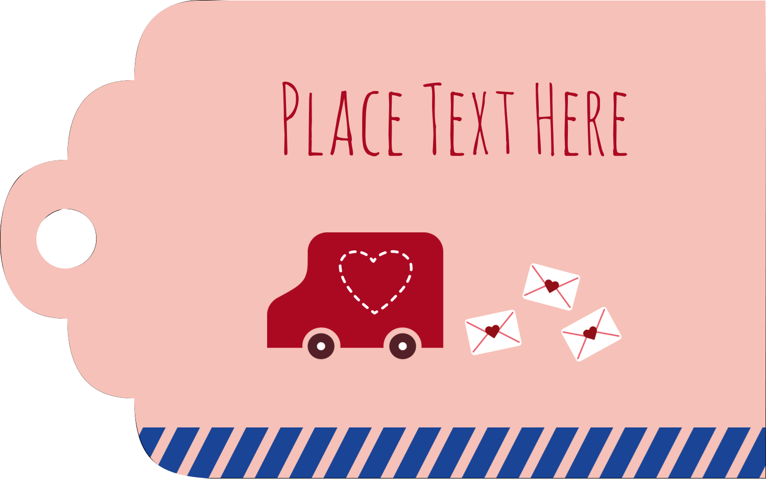 "2"" x 1⅛"" Printable Tags - Valentine Mail"