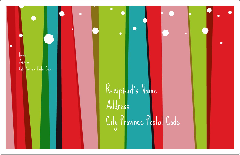"5½"" x 8½"" Shipping Label - Christmas Retro Stripe"