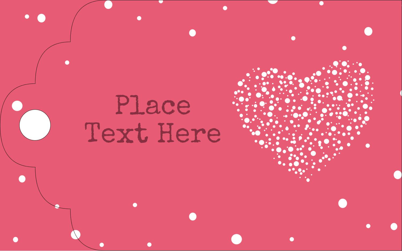 "2"" x 1⅛"" Printable Tags - Heart Spot"