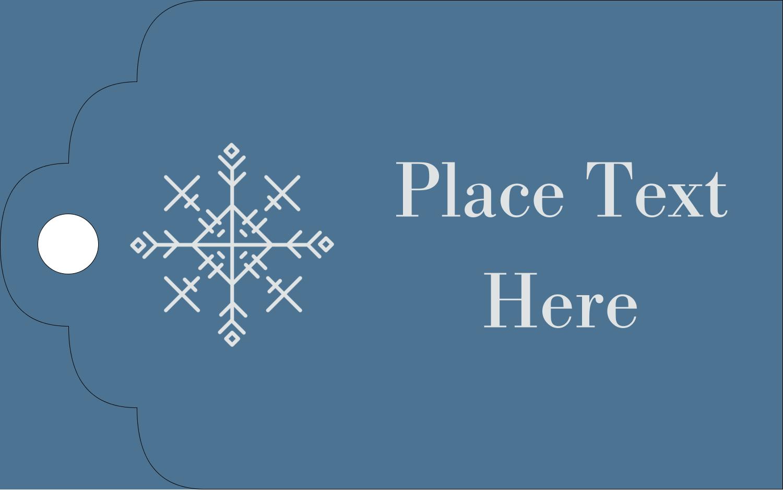 "2"" x 1⅛"" Printable Tags - Snowflakes"