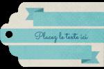 Ruban turquoise Étiquettes imprimables - gabarit prédéfini. <br/>Utilisez notre logiciel Avery Design & Print Online pour personnaliser facilement la conception.