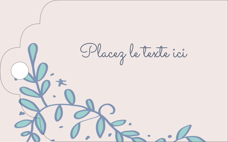 """2"""" x 1⅛"""" Étiquettes imprimables - Réservez la date bleu"""