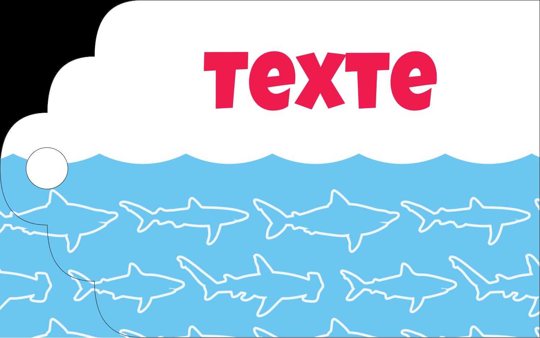 """2"""" x 1⅛"""" Étiquettes imprimables - Requins bleus"""