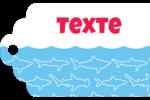 Requins bleus Étiquettes imprimables - gabarit prédéfini. <br/>Utilisez notre logiciel Avery Design & Print Online pour personnaliser facilement la conception.