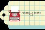 Machine à écrire Étiquettes imprimables - gabarit prédéfini. <br/>Utilisez notre logiciel Avery Design & Print Online pour personnaliser facilement la conception.