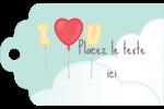 Ballon d'amour de Saint-Valentin Étiquettes imprimables - gabarit prédéfini. <br/>Utilisez notre logiciel Avery Design & Print Online pour personnaliser facilement la conception.