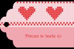 Saint-Valentin en point de croix Étiquettes imprimables - gabarit prédéfini. <br/>Utilisez notre logiciel Avery Design & Print Online pour personnaliser facilement la conception.