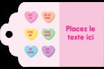 Bonbon en cœur de Saint-Valentin Étiquettes imprimables - gabarit prédéfini. <br/>Utilisez notre logiciel Avery Design & Print Online pour personnaliser facilement la conception.