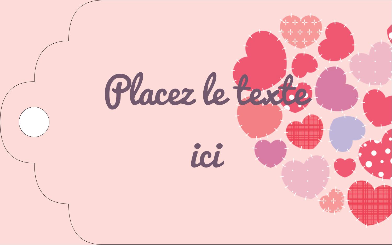 """2"""" x 1⅛"""" Étiquettes imprimables - Courtepointe en cœur"""
