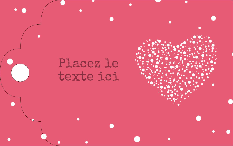 """2"""" x 1⅛"""" Étiquettes imprimables - Amas en cœur"""
