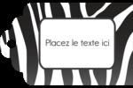 Imprimé zébré Étiquettes imprimables - gabarit prédéfini. <br/>Utilisez notre logiciel Avery Design & Print Online pour personnaliser facilement la conception.