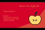 Pomme rouge Carte d'affaire - gabarit prédéfini. <br/>Utilisez notre logiciel Avery Design & Print Online pour personnaliser facilement la conception.