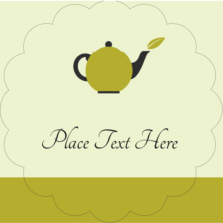"2½"" Scallop Labels - Teapot"