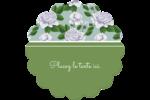 Savon fleurs vertes Étiquettes rondes - gabarit prédéfini. <br/>Utilisez notre logiciel Avery Design & Print Online pour personnaliser facilement la conception.