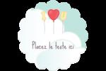 Ballon d'amour de Saint-Valentin Étiquettes rondes - gabarit prédéfini. <br/>Utilisez notre logiciel Avery Design & Print Online pour personnaliser facilement la conception.