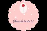 Sucette de Saint-Valentin Étiquettes rondes - gabarit prédéfini. <br/>Utilisez notre logiciel Avery Design & Print Online pour personnaliser facilement la conception.