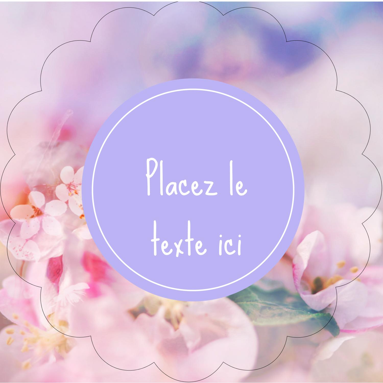 """2½"""" Diameter Étiquettes rondes - Arrangement floral"""