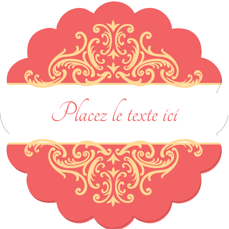 """2½"""" Diameter Étiquettes rondes - Élégance et mariage"""