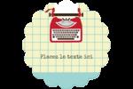 Machine à écrire Étiquettes rondes - gabarit prédéfini. <br/>Utilisez notre logiciel Avery Design & Print Online pour personnaliser facilement la conception.
