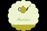 Théière Étiquettes rondes - gabarit prédéfini. <br/>Utilisez notre logiciel Avery Design & Print Online pour personnaliser facilement la conception.