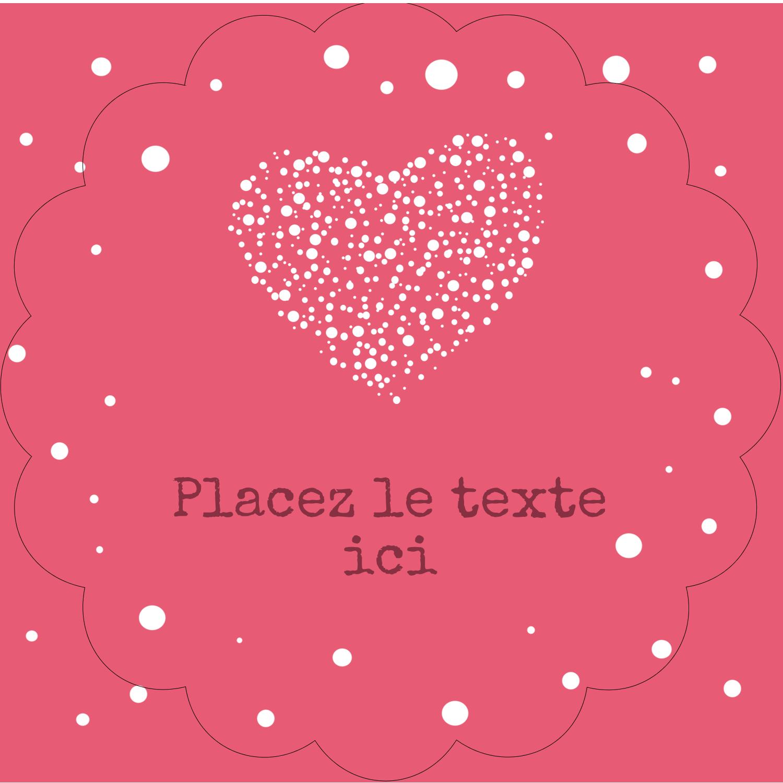 """2½"""" Diameter Étiquettes rondes - Amas en cœur"""