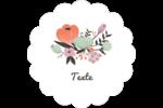 Jardin exotique Étiquettes festonnées - gabarit prédéfini. <br/>Utilisez notre logiciel Avery Design & Print Online pour personnaliser facilement la conception.