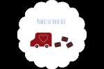 Saint-Valentin par la poste Étiquettes festonnées - gabarit prédéfini. <br/>Utilisez notre logiciel Avery Design & Print Online pour personnaliser facilement la conception.