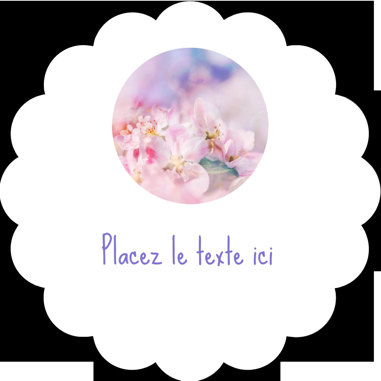 """2"""" Diameter Étiquettes festonnées - Arrangement floral"""