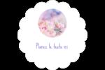 Arrangement floral Étiquettes festonnées - gabarit prédéfini. <br/>Utilisez notre logiciel Avery Design & Print Online pour personnaliser facilement la conception.