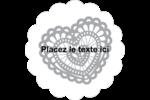 Saint-Valentin au crochet Étiquettes festonnées - gabarit prédéfini. <br/>Utilisez notre logiciel Avery Design & Print Online pour personnaliser facilement la conception.