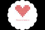 Saint-Valentin en point de croix Étiquettes festonnées - gabarit prédéfini. <br/>Utilisez notre logiciel Avery Design & Print Online pour personnaliser facilement la conception.