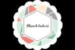Mosaïque tangram rose et verte  Étiquettes D'Adresse - gabarit prédéfini. <br/>Utilisez notre logiciel Avery Design & Print Online pour personnaliser facilement la conception.
