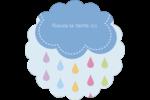 Averse de pluie Étiquettes D'Adresse - gabarit prédéfini. <br/>Utilisez notre logiciel Avery Design & Print Online pour personnaliser facilement la conception.