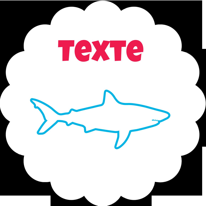 """½"""" x 1¾"""" Étiquettes D'Adresse - Requins bleus"""