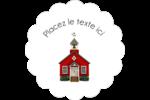 École rouge Étiquettes festonnées - gabarit prédéfini. <br/>Utilisez notre logiciel Avery Design & Print Online pour personnaliser facilement la conception.